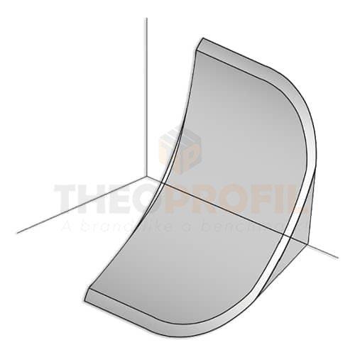 End Cap for Large PVC Corner Profile