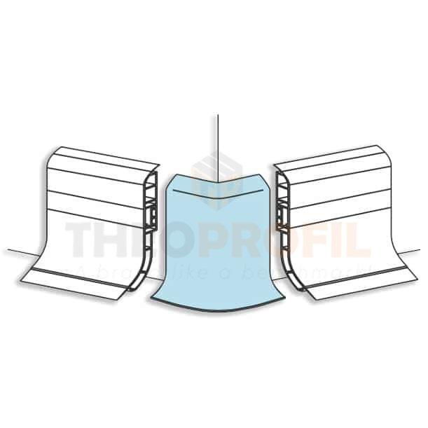 External PVC Corner Cap for Plinth Profiles