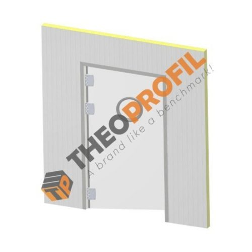 Semi-insulating swinging door