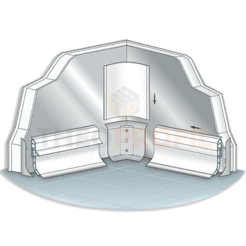 Internal PVC Corner for Plinth Profiles