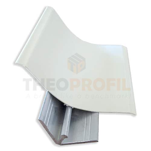 Rounded Corner PVC Profile with soft edges & Aluminium L-backing profile