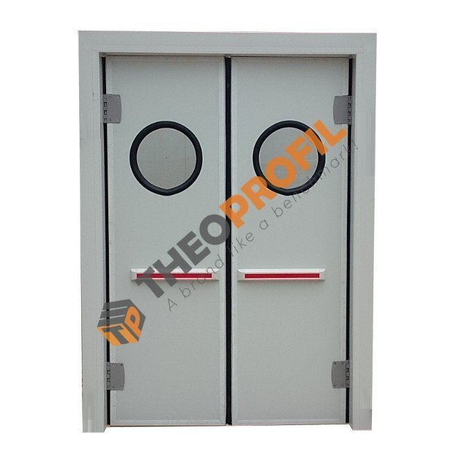 Double-insulating swinging door - Inc. PVC Door Frame
