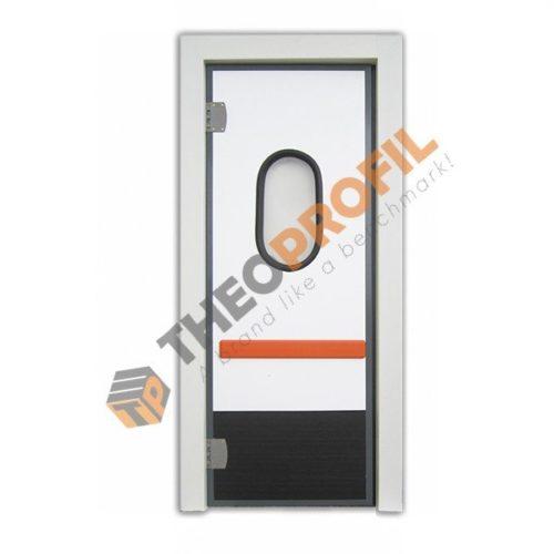 Flip-flap door with pvc door frame