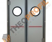 Double-insulating swinging door