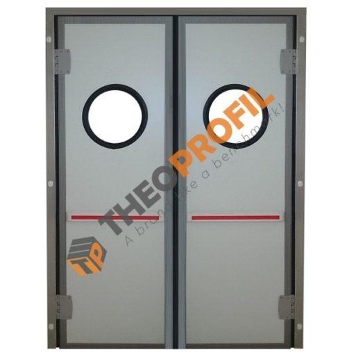 Double-insulating swinging door