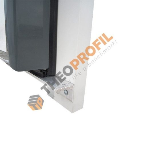 freezer hinged door with sweeper gasket