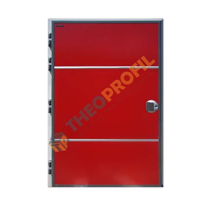 Chiller hinged door with sweeper gasket - red