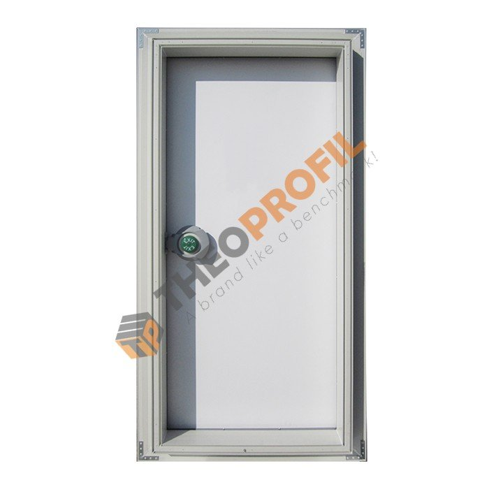 hinged door with plinth block